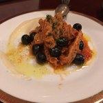 ビストロ オレイユ - トリップとオリーブのトマト煮込み マッシュポテト添