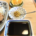 山正 - みそダレは別皿でお願い  辛子がカワイイ