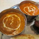 インド&ネパール料理 ゼニエム - 【バターチキンカレー】と【キマカレー】にしました♪