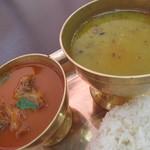 インド&ネパール料理 ゼニエム - 【マトンカレー】と【ダールカレー】