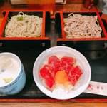 新宿 そば蔵 - 二色そば1,080円(税込み)