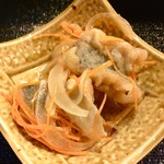 吉乃寿司 - お通し 鯵の南蛮漬