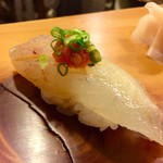 吉乃寿司 - コチ ポン酢 紅葉おろし