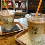 スガヤコーヒー - カフェラテ & バニララテ (♡ >ω< ♡)