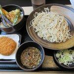 ゆで太郎 - まる得セット(ミニ海老天丼)+コロッケ2018.06.04