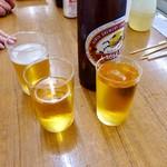 酒の奥田 - とりビー。キリンかアサヒの二択。