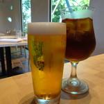 ラグーナの森 - 生ビール(600円)とセットアイスティー(450円)