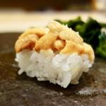 ゆう座 - [2018/05]寿司⑦ ばふんうにの握り 塩