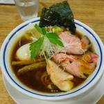手打式超多加水麺 ののくら - 特製中華そば(醤油)(980円)