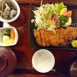 姫沙羅 - 2018年6月 ロースカツ定食 1550円+税