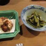 旬味 泰平 - お通し二種