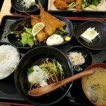 どまん中 - アジフライ+豚のトロトロ角煮880円