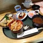上田 - 料理写真:「日替り定食 プチせせり丼付き (1000円)」