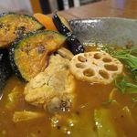 スープカレー KIFUKU - 骨付きチキンのスープカレー