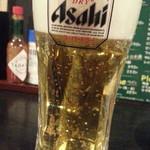 新宿かっぱ - 生ビールはスーパードライ190円