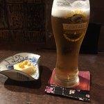 87347874 - 生ビール&お通し