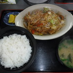 千久満食堂 - 料理写真:ホルモン定食  みそ汁付