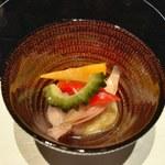 金舌 - ハチノスと夏野菜の南蛮酢