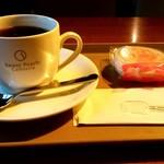 スウィートピーチカフェテリア - ドリンク写真:Sweet Peach Cafeteria@新青森 うれちーずセット(500円)