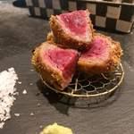 肉屋うたがわ2 - 『牛ヒレ肉のレアカツ』様(1900円)