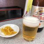 87353954 - 乾いた体にとってありえない旨さだった瓶ビール500円、賭博破戒録カイジの名セリフ、キンっキンに冷えてやがるぜ〜と言うセリフが出てきそうで焦りました。