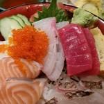 塚本鮮魚店 - 海鮮丼、アップ。
