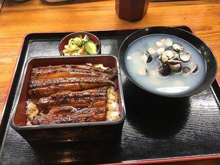 うおふね - 涸沼産天然鰻のうな重(3500円)