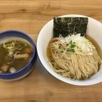 87356728 - 昆布水のあっさりつけ麺 塩 大240g(800円) 2018.6