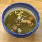 87356731 - 昆布水のあっさりつけ麺 塩つけ汁(麺処 有彩) 2018.6