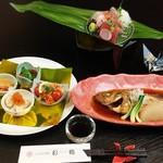 つるおか旬暦 彩鶴 - マリアージュ膳 ・酒菜盛り合わせ・お刺身三点盛り・本日の逸品