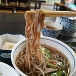 天下茶屋 - 風味があって平たいお蕎麦