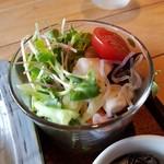cafe double - セットのサラダも美味しい
