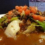 カルダモン. - 挽き肉とシメジ、コーンの炒めレタス和えカレーをUPで!