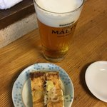 魚がし 福ちゃん - ビール580円 お通し300円