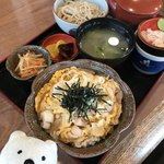 松本庵 - 親子丼ランチセット Oyako-don Chicken and Egg Bowl Combo Plate at Matsumoto-an, Ninomiya!♪☆(*^o^*)