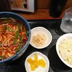 87375652 - たつ昇 台湾メン+ベーコン炒飯(半)