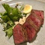 La Spiaggia - 熊本産黒毛和牛ステーキ   シンプルに粒マスタードで頂きます(^○^)