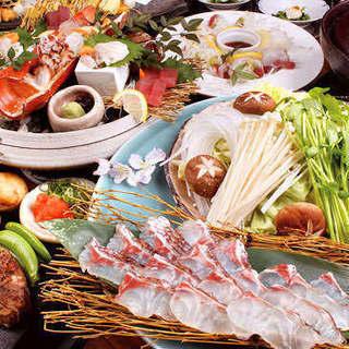 新鮮な海の幸とお肉料理をお楽しみ頂けるリーズナブルなコース
