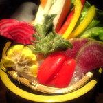 8738968 - 生野菜。綺麗ですね