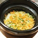 虎白 - 桜エビとそら豆の炊き込みご飯