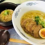石川ゴルフ倶楽部 レストラン - 塩ラーメンとミニ炒飯セット 1400円