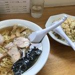 かやま - 料理写真:Fセット ラーメン+半チャーハン ¥700