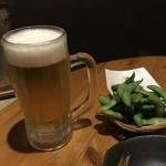 あっぱりしゃん - オリオンビール生中(500円)