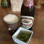 冨陽 - ビールとお通し