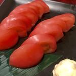 炙り肉寿司と牛タンしゃぶの個室居酒屋 麹丸屋 - 冷やしトマト