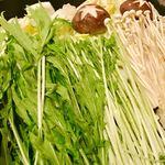 炙り肉寿司と牛タンしゃぶの個室居酒屋 麹丸屋 - お野菜もたっぷりで嬉しい!