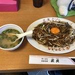 三久 - 料理写真:2018年6月10日  生玉子入りやきそば  730円