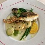 レストラン ラグラース - ランチミニコースのメイン、魚料理