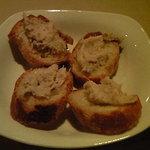 レストラン グーテ! - アミューズ:豚を白ワインで炊いたパテ