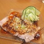 川香苑 - 蒜泥白肉 豚バラ肉のにんにくソース和え